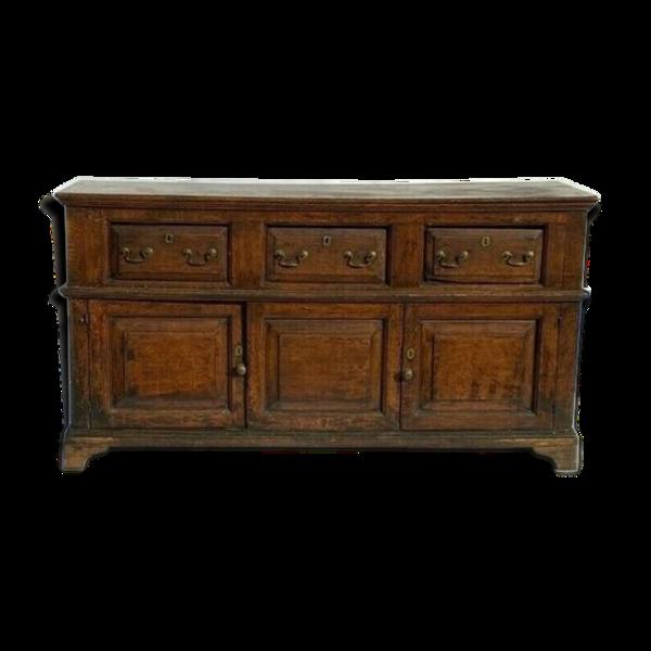 Enfilade chêne époque Louis XIII XIV eme 3 portes tiroirs belle patine
