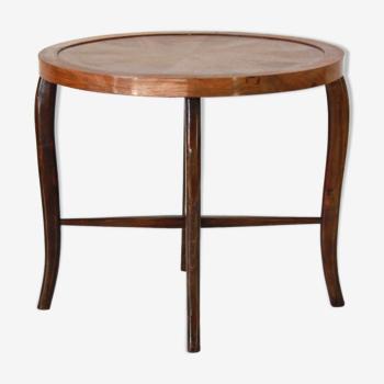 Table d'appoint en bois incurvé art déco de 1930