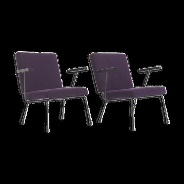 Paire de fauteuils '1401' de Wim Rietveld pour Gispen