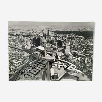 Panoramic photo of the Arche de La Défense, 90s