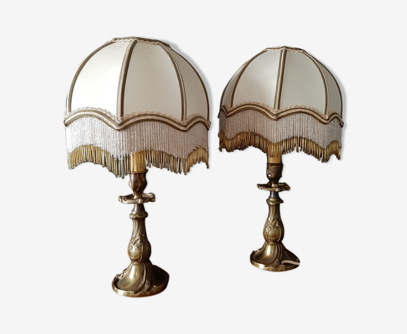 Paire de lampes de chevet