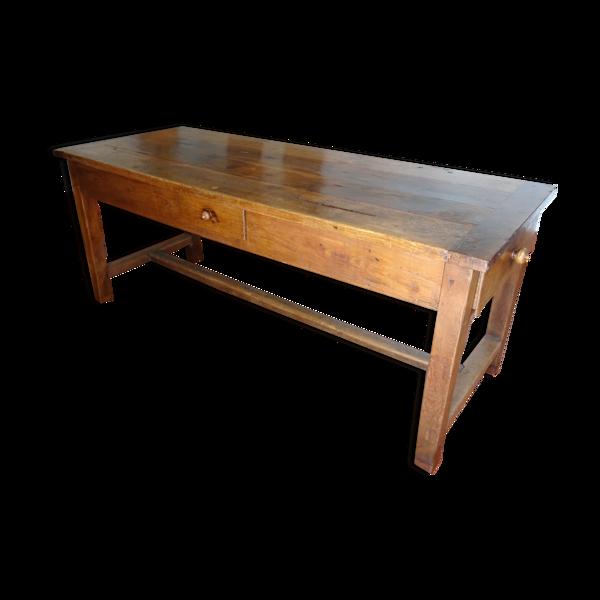 Table de ferme XIXème en merisier 190 cm