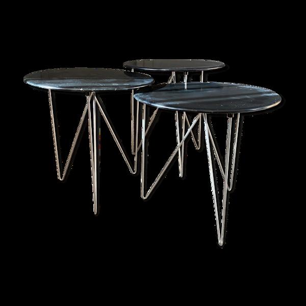 Selency Set de 3 tables