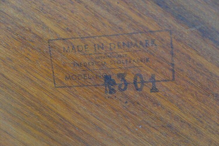 Table basse en teck modèle 301 par Børge Mogensen pour Fredericia, années 1960