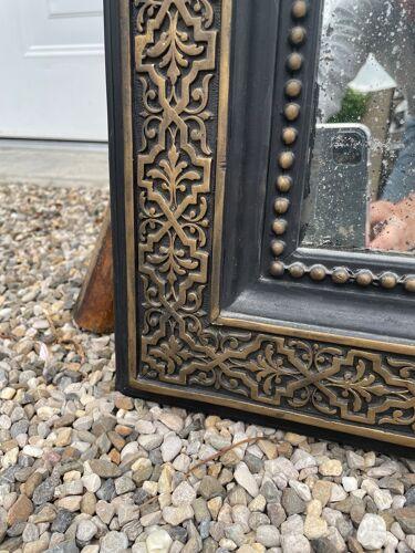 Miroir époque Napoleon III doré et bois noirci - 141x100cm