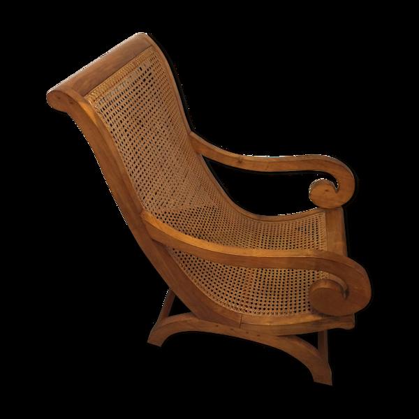 Fauteuil creole en bois de camphre