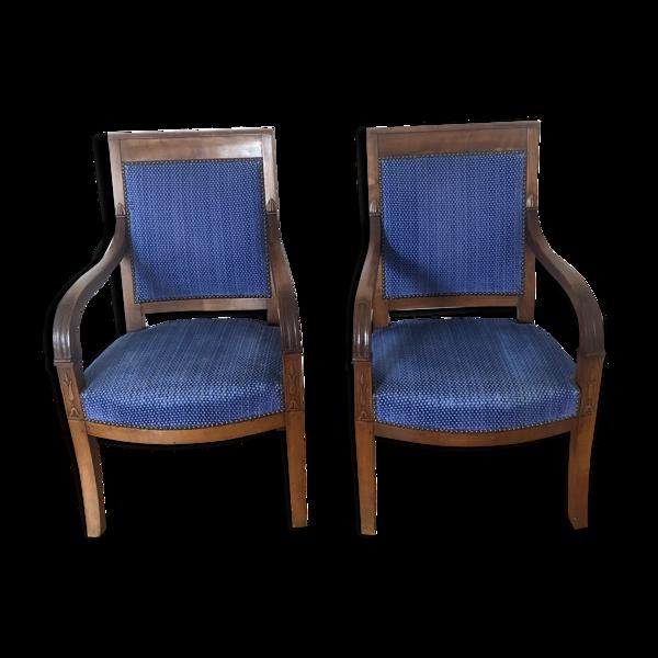 Vends 2 fauteuils style Louis Philippe