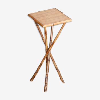 Table d'appoint en bambou de Maurice Lauer, années 60