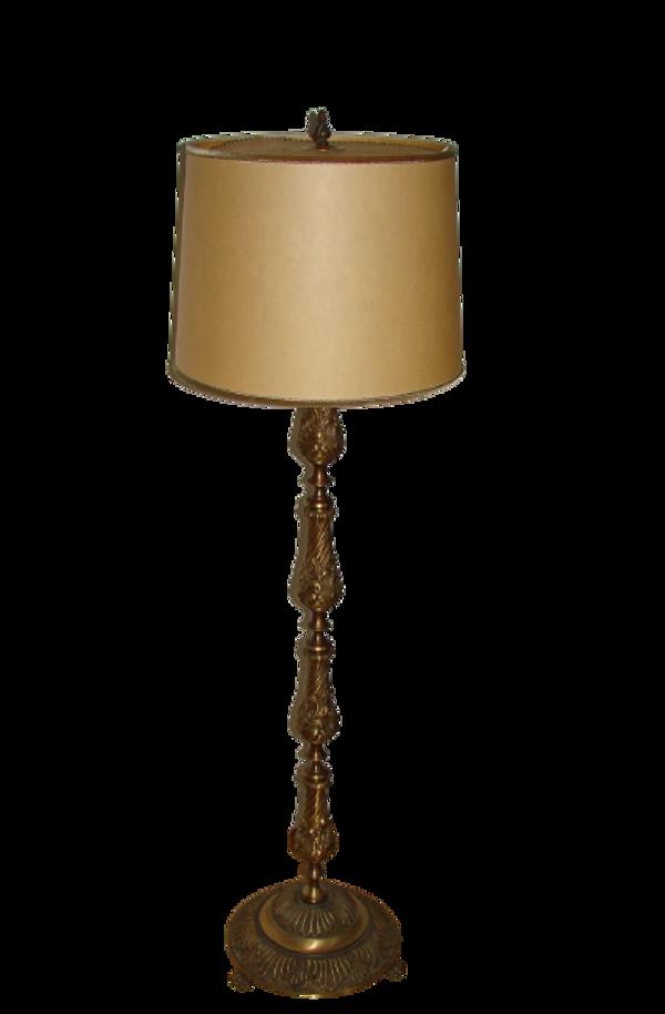 Lampadaire en laiton, années 50
