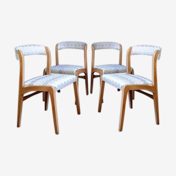 Suite de 4 chaises Baumann cadix années 70