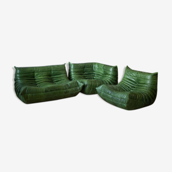 Togo armchairs and 2-seater sofa set by Michel Ducaroy for Ligne Roset, 1970s