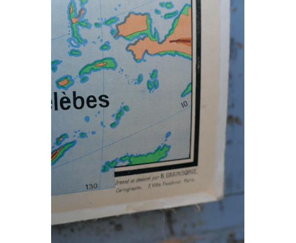 Affiche scolaire Asie physique n°101 Bruley