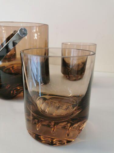 Service à whisky vintage en verre soufflé des années 70
