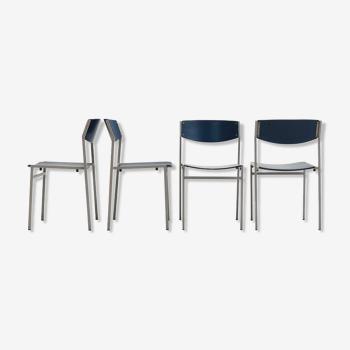 4 chaises du designer néerlandais Gijs van der Sluis