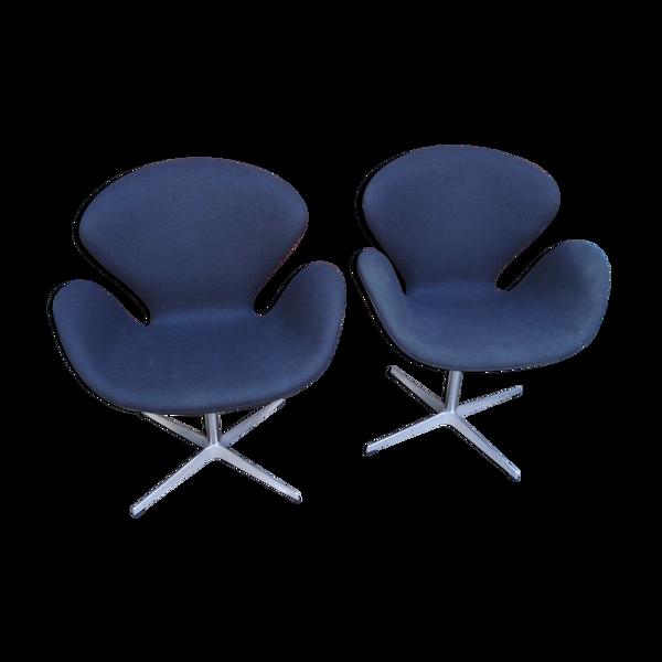 Fauteuils Swan par Arne Jacobsen pour Fritz Hansen années 90