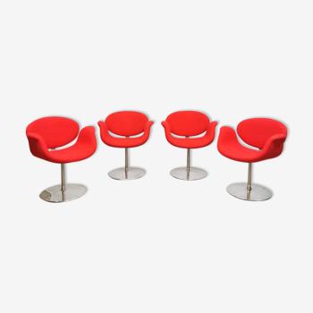 Ensemble de 4 chaises vintage 'little tulip' par Pierre Paulin Artifort