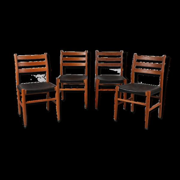 Set de quatre chaises, années 1960