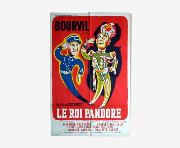 """Affiche cinéma originale """"Le roi Pandore"""" Bourvil"""