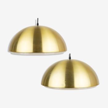 Pair of Danish pendant lamps Louisiana by Vilhelm Wohlert, Louis Poulsen, 1950s