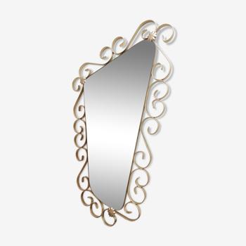 Miroir rétroviseur doré