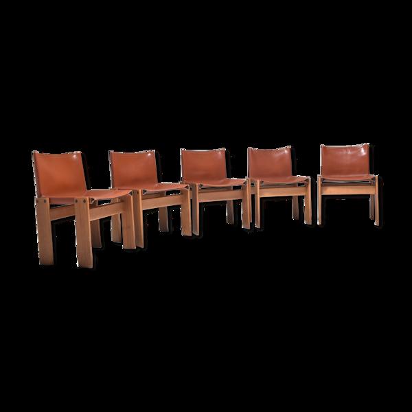 Set de 5 chaises Monk par Afra et Tobia Scarpa 1970