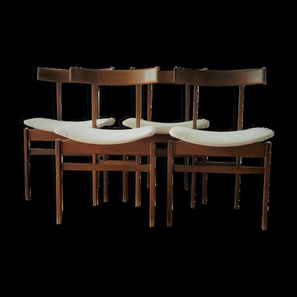 Lot de 4 chaises de Klingenberg années 60