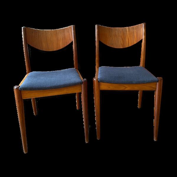 Selency Paire de chaises scandinaves en teck des années 1960