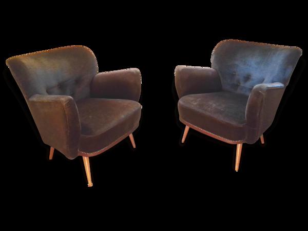 1 Mignon petit fauteuil tout ronds années 50
