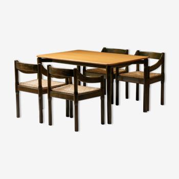 Table Carimate Vico Magistretti pour Cassina, design italien - années 1960
