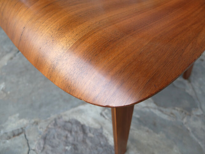 DCW Dining Chair Wood walnut, Charles and Ray Eames for Herman Miller, 1950