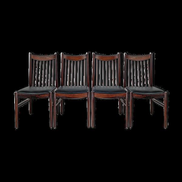 Selency Lot de 4 chaises scandinaves design Arne Vodder