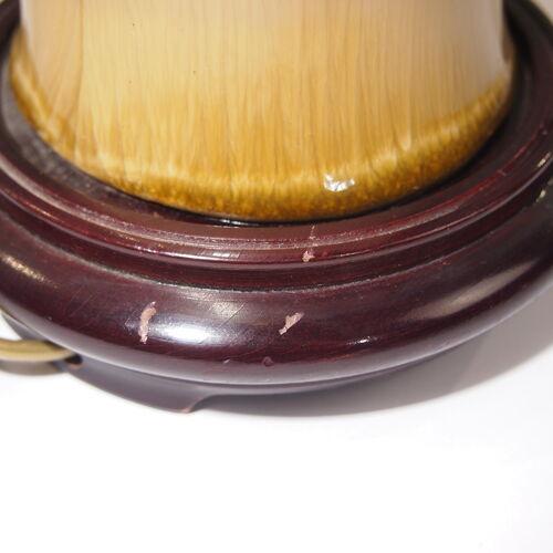 Lampe de table marqueterie de paille  Louis Drimmer vintage