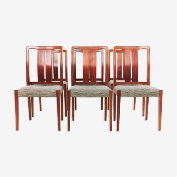 6 chaises de salle à manger suédoises en bois de rose du milieu du siècle par Nils Jonsson pour Hugo Troeds
