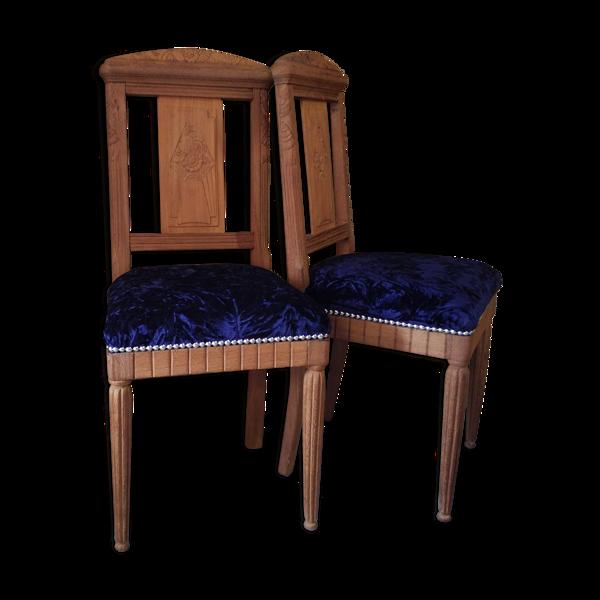 Paire de chaises années 30