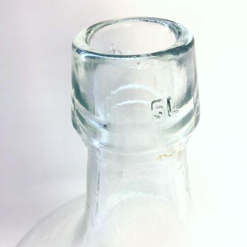Dame jeanne transparente cinq litres