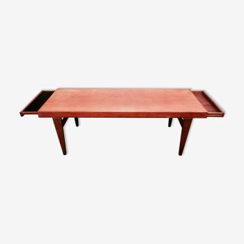 Scandinavian teak coffee table 1950 Johannes Andersen