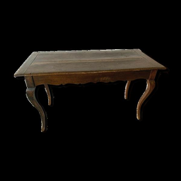 Selency Table de ferme Louis XV en chêne massif XIX siècle
