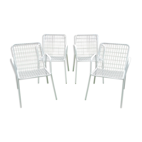 Suite de 4 fauteuils EMU