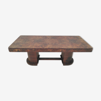 Art deco period table in walnut bramble
