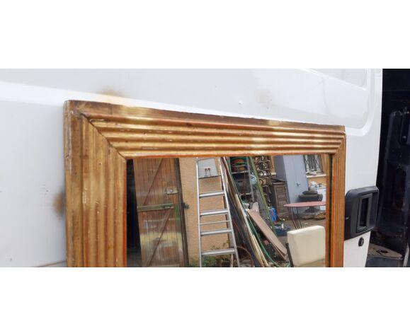 Miroir 19 éme bois et stuk doré 73x71cm