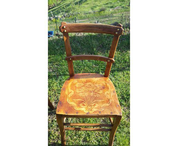Lot de 5 chaises bistrot style Luterma