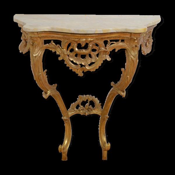 Selency Console dorée attrayante de conception, 19ème siècle