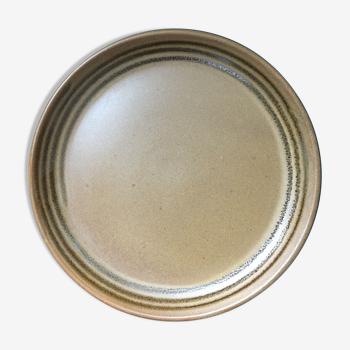 4 assiettes en grès de Sarreguemine