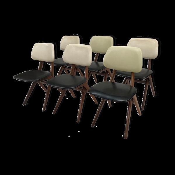 Ensemble de 6 chaises de Louis van Teeffelen pour Wébé
