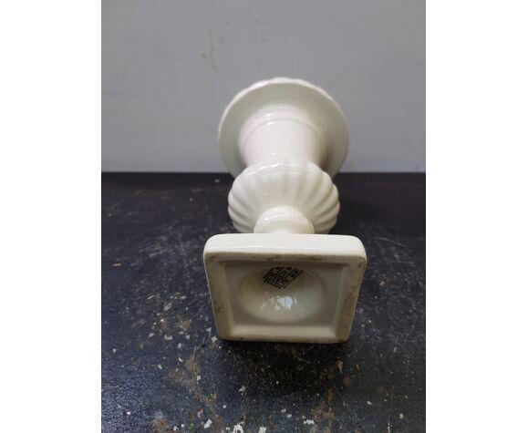 Vase Gien forme médicis céramique blanche vintage