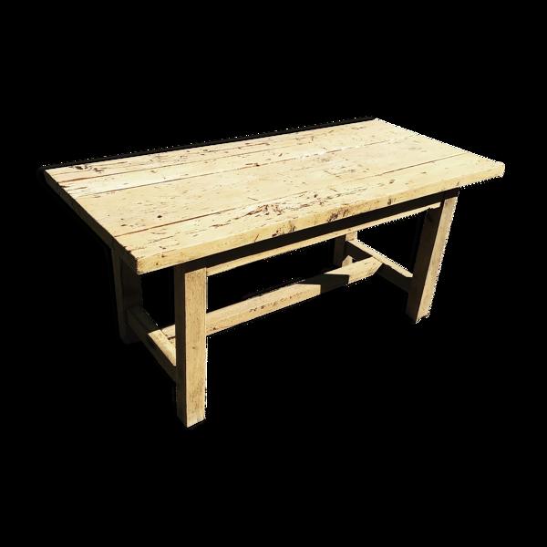 Table de ferme chêne massif 152x72