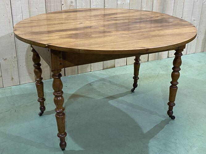 Table à abattants Louis Philippe en merisier - XIXème