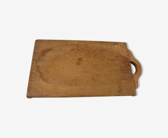 Planche à découper ancienne boucher bois pour cuisine objet de métier