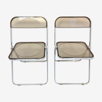 Paire de chaises Piretti par Castelli