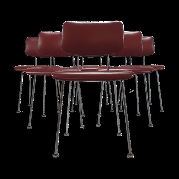 Selency Ensemble de 6 1262 chaises à manger par André Cordemeyer pour Gispen, 1950S